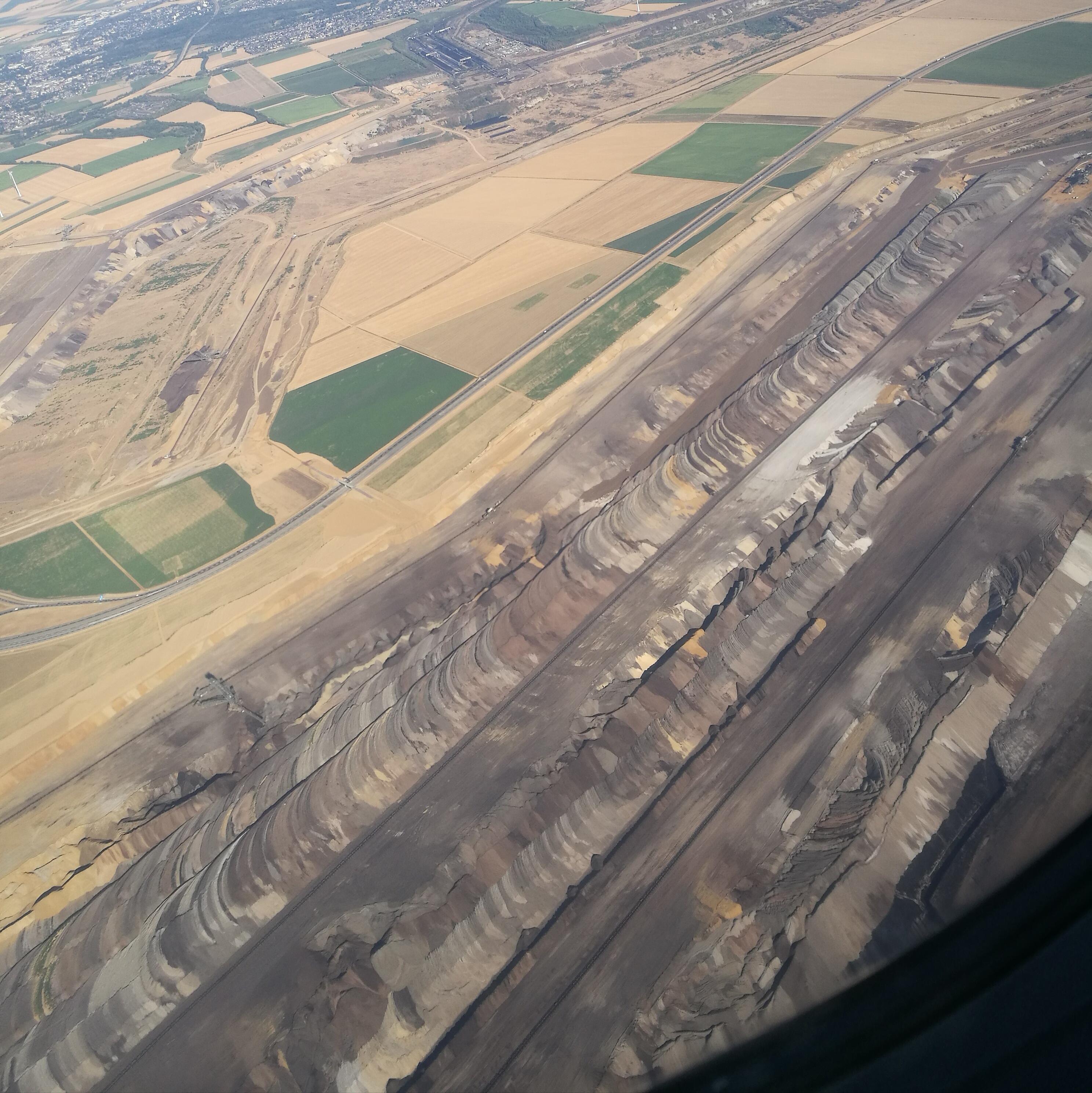 Braunkohletagebau in NRW, fotografiert auf einem meiner Flüge